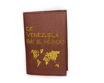 Cute brown venezuelan passport holder