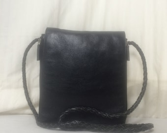 Leather organizer purse,bag,leather purse,organizer, tote bag, shoulder bag, black