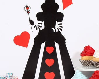 Alice In Wonderland Party Signs; Queen of Hearts Decorations; Mad Hatter Party Decorations; Baby Shower Decor; Bridal Shower; Birthday Party