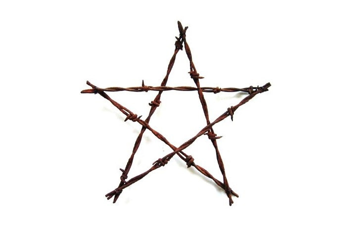 Rustic Wedding Decor Barbed Wire Star Large 4th Of July