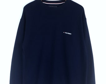 Rare!!! Vintage 90s Tommy Hilfiger Sweatshirt Tommy Hilfiger Small Logo Embroidery Pullover Jumper Sweater