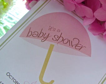 Under the umbrella tree - baby shower invitation - DIY - PRINT YOURSELF or purchase prints