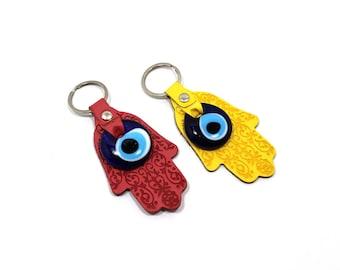 Two Hamsa Evil Eye Keychain, Evil Eye, Evil Eye Key Chain, Hamsa Keychain,  Evil Eye Hamsa (Buy 1 Get 1 FREE & FREE SHIPPING!!!)
