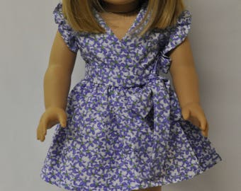 18 inch American doll clothes dress, headband, shoes