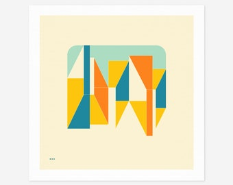 SYSTEMS 7.1 (Giclée Fine Art Print/Photo Print/Poster Print) Minimal Geometric Abstract Art