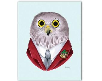 Powerful Owl print 8x10