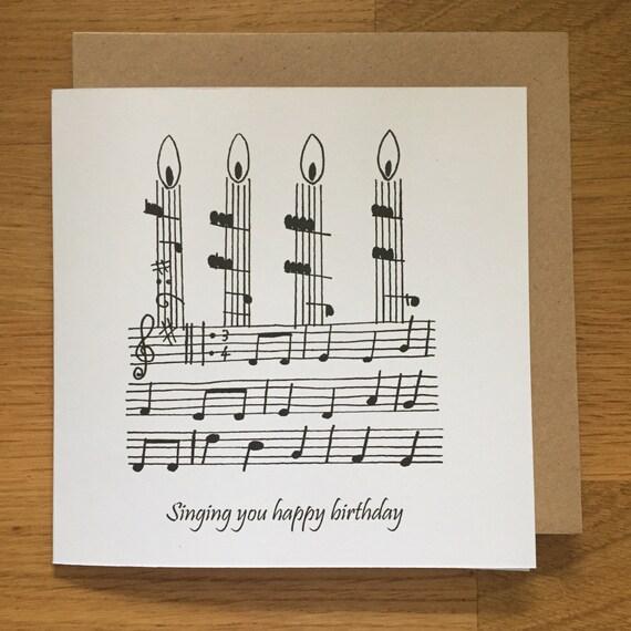 Birthday Card Happy Birthday Card Music Singing Choir