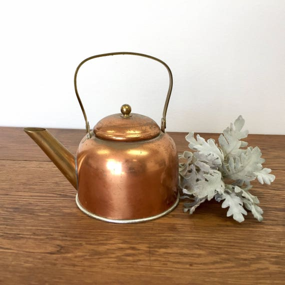 Small Tea Kettle, Vintage Home Decor, Stove Top Teapot, Rustic Home Decor, Vintage Tea Kettle, Decorative Teapot, Farmhouse Decor