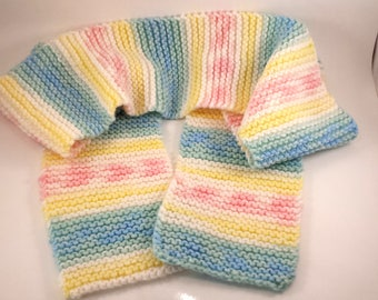 Soft Colored 100% Acrylic Knitted Scarf