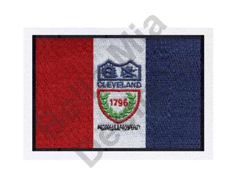 Cleveland, Ohio Flag - Machine Embroidery Design