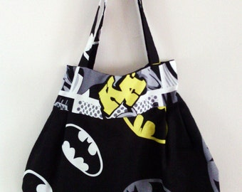 Batman Logo comic book strip super hero character handbag tote messenger bag