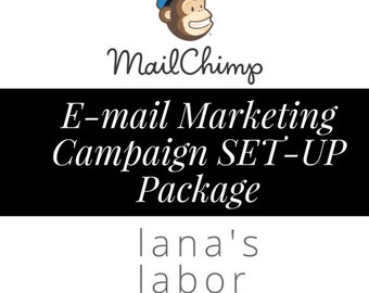 MailChimp E-mail Marketing Campaign SET-UP PACKAGE