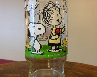 Peanuts Characters Glass