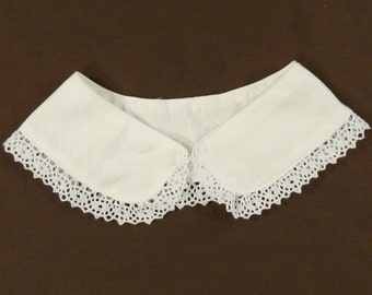 Women's Victorian Dress Collar with lace trim