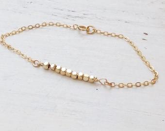 Dainty gold bracelet,delicate bracelet,minimalist bracelet,simple bracelet,gold filled, layering bracelet, jewelry