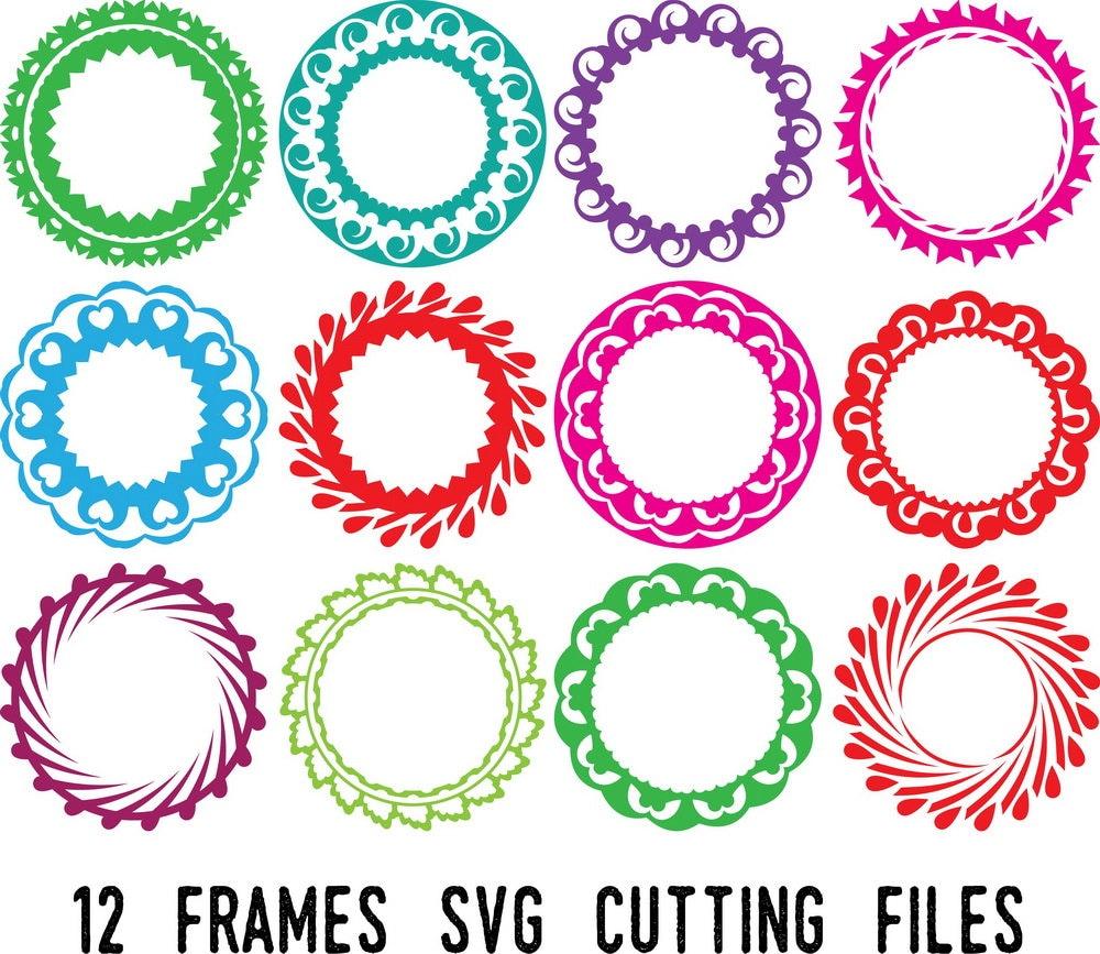 Frame Svgcircle Monogram Svg Cut Files 12 Circle Monogram