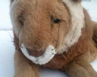 Westfield Large Soft Lion Plush Stuffed Animal Beige and Brown Wild Cat African Lion