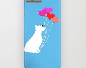 Schnauzer Dog with balloons  -  iPhone 6S, iPhone 6 Plus,   Schnauzer Dog art, iPhone 8