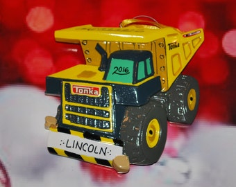 Tonka Dump Truck Personalized Christmas Ornament