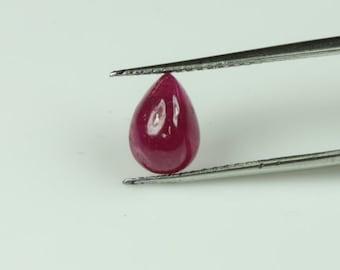 Ruby pear shaped cabochon,tcw-2.05ct