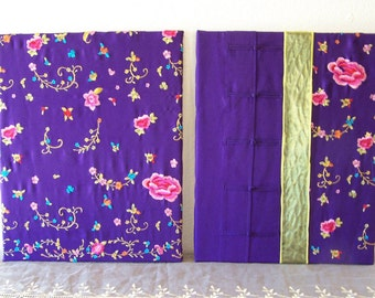 Purple Asian Canvas Wall Hanging