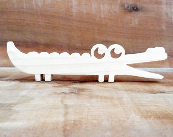Crocodile wood, birthstone gift idea, natural wood, decorative toy room baby, child...