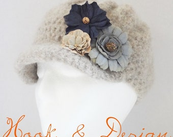 Ladies Felted Newsboy Hat Pattern *PATTERN ONLY*