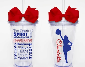 Cheer Subway Art - Acrylic Tumbler Personalized Cup