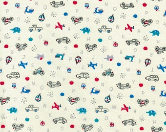 Transportation - Minny Muu - Lecien Fabrics - 100% Cotton Fabric