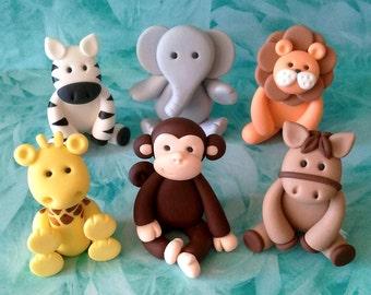 Any 1  Fondant Animal Cake Topper - Lion/ Elephant/ Zebra/ Giraffe/ Monkey/ Horse