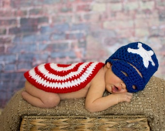 Superhero CAPTAIN AMERICA baby photography prop