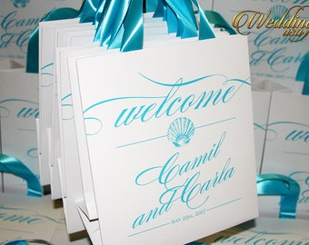20 Beach Wedding Favors Totes, Welcome Bags, Bachelorette Party Favor, Destination Tote Bags, Wedding Favor Bags, Custom Totes, Wedding Bags