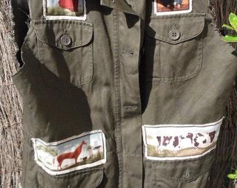 Jacket country farm sleeveless