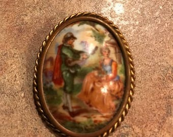 Vintage Limoges France Brooch
