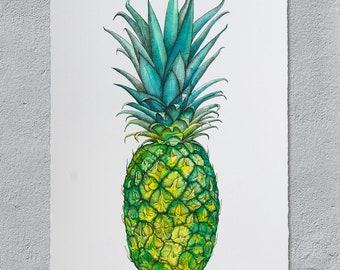 Pineapple Giclee print A3