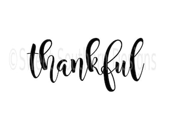 Thankful DXF SVG instant download design for cricut or silhouette