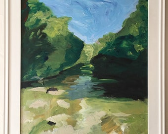 Bull Creek Austin, Texas Painting Original