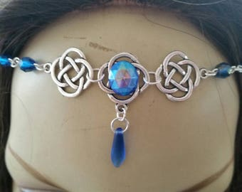 Sapphire Circlet of the Water Priestess goddess celtic bridal druid