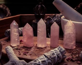 Rose Quartz Crystal Point