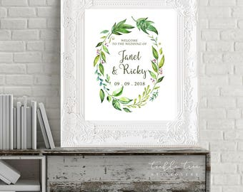 Reception Signs/Our Wedding Day - Breezy Leaf (13701)