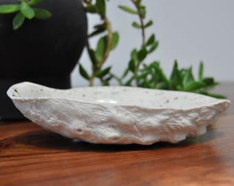 Gold Splatter Abalone Bowl - Abalone Shell Beach Decor Ring Dish Trinket Dish Soap Dish Gold Small Bowl