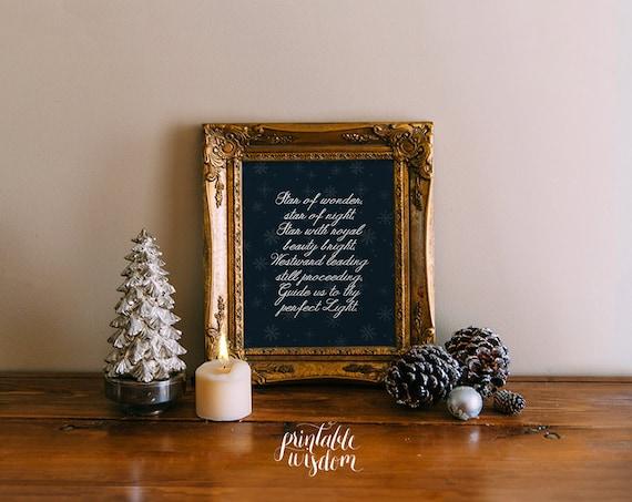 Items Similar To Christian Christmas Decor Printable Decor