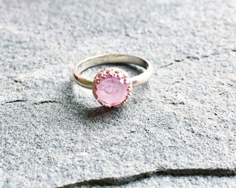 Eloise Ring with Lab-created Ruby