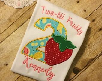 Two-tti Fruity Birthday Shirt Twotti Frutti