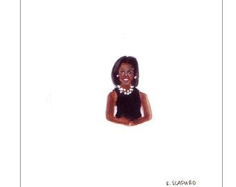 Tiny Michelle Obama Print