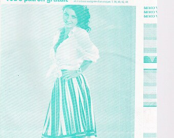 Feb 2007 fashion and pleated skirt sewing pattern