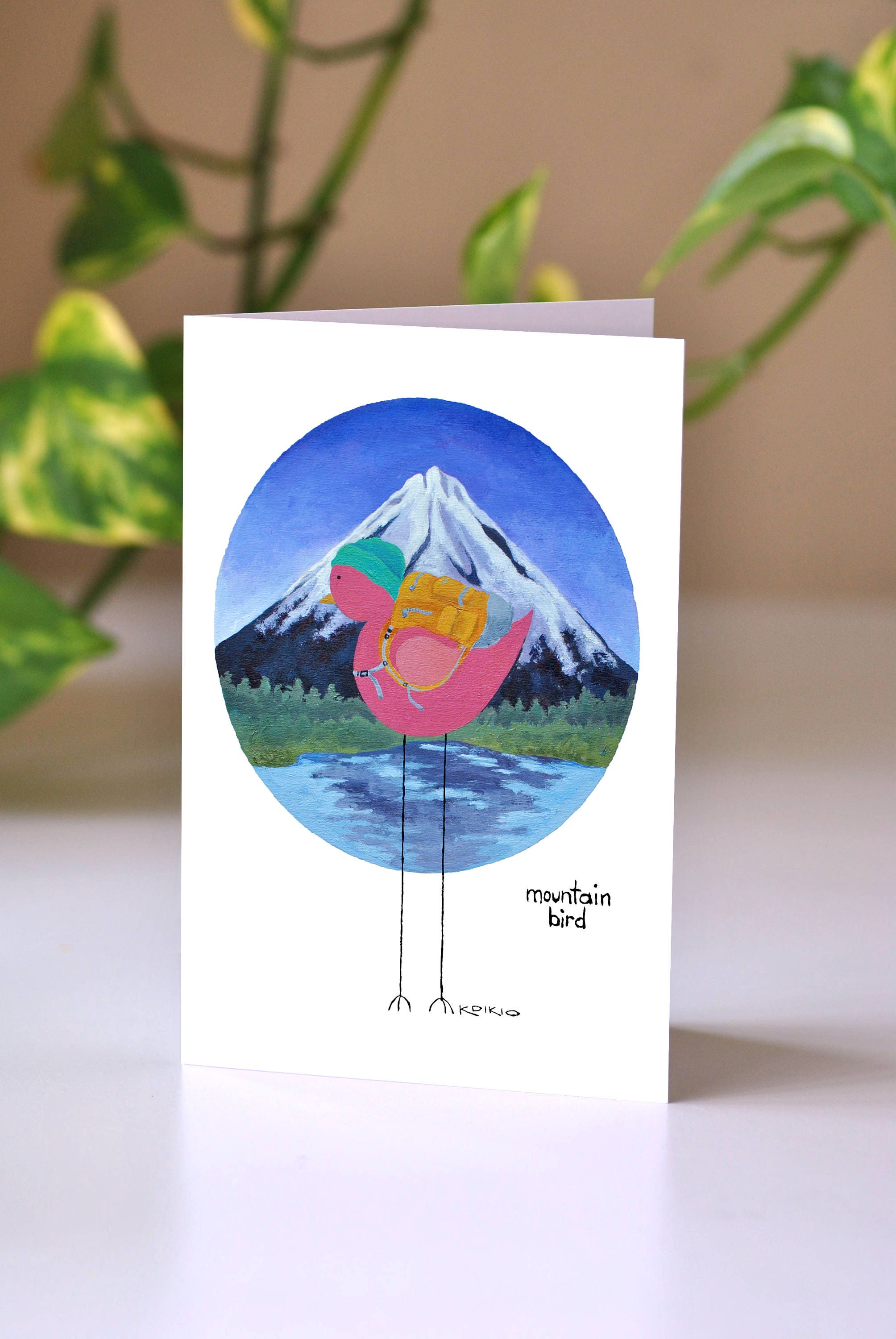 Mountain bird greeting card outdoorsy card birthday card for description introducing mountain bird greeting card kristyandbryce Image collections