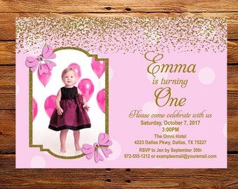 Photo Birthday Invitation ~ Girls Invitation ~ Custom Photo Birthday ~ Digital~ Personalized Birthday ~ Birthday Invitation  ~ 5x7 Printable