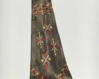 1940s Green Necktie