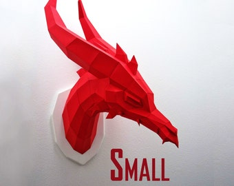SMALL Dragon - Papercraft Kit